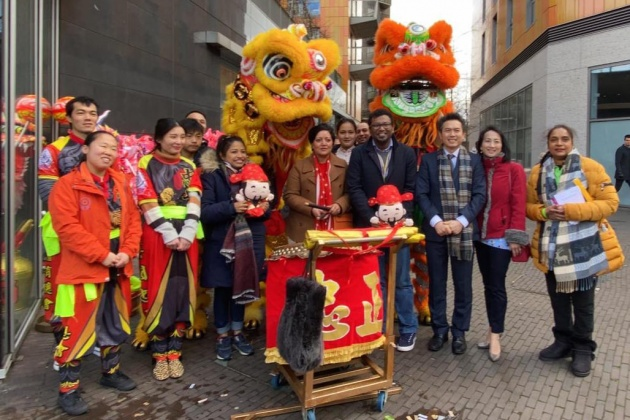 Newham Chinese Association, Celebrating CNY in Rathbone Market with The Mayor and council