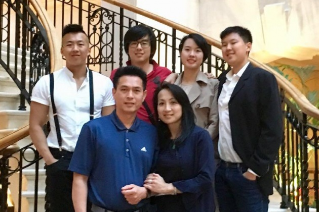 Mr Yau - My family... children all grown up