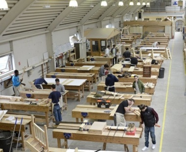 Students at Building Crafts College learn traditional construction skills in the heart of Stratford