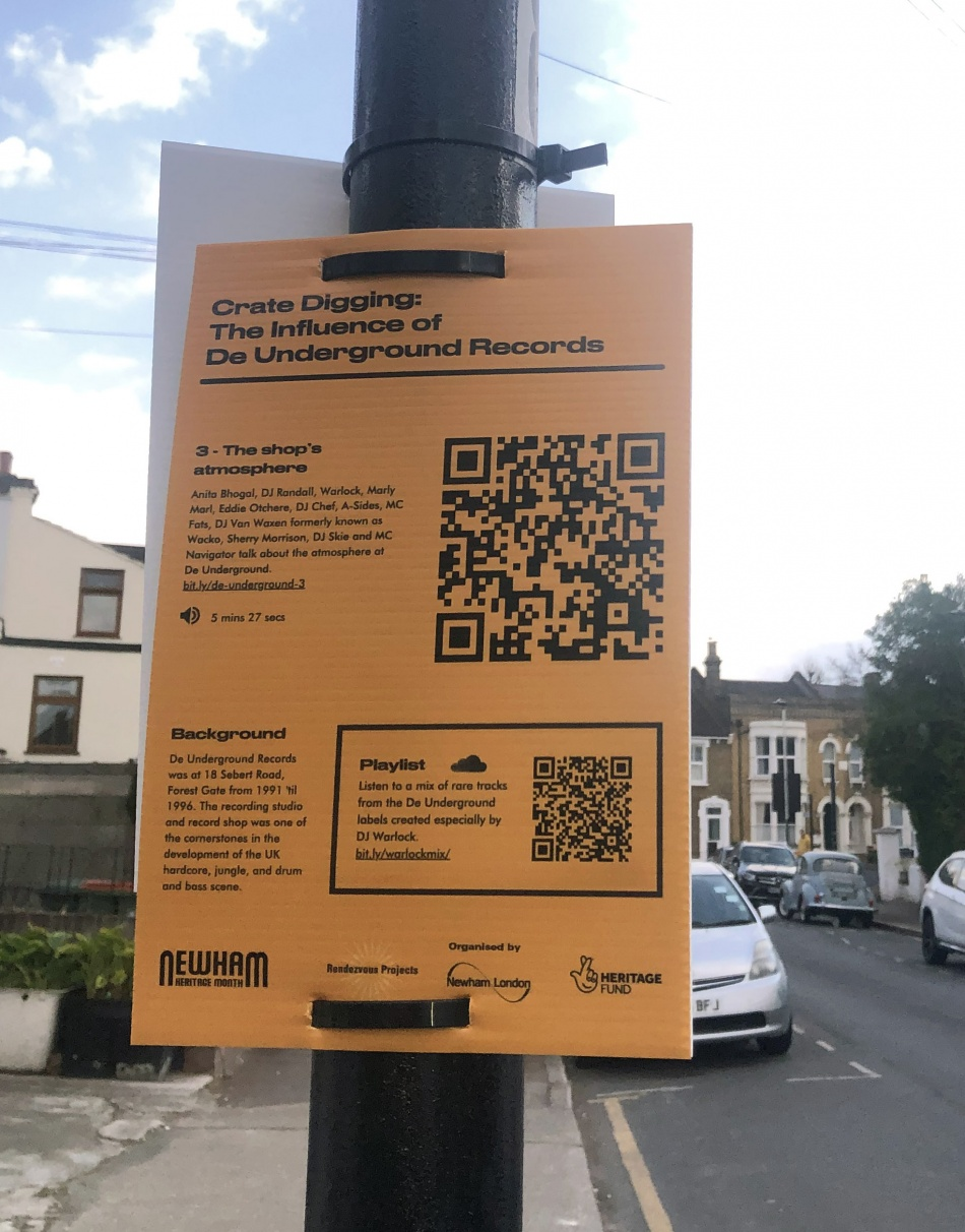 Extracts of this audio are available to listen to in and around the junction of Sebert Road and Woodgrange Road junctions, via your mobile phone.