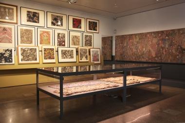 Exhibition colour photo showing artworks