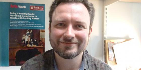 Image of Matt Martin, poet researcher and walk leader from Birkbeck