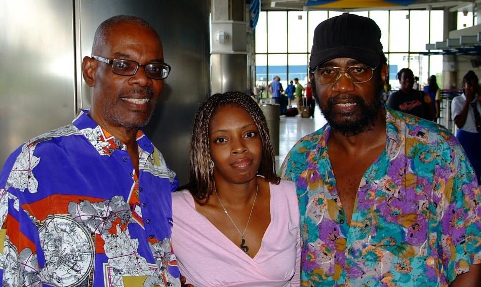 Tony Cheesema, his daughter Chidi and Trevor Murrell