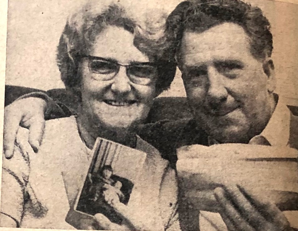 Colin Johnson pictured with his wife in 1970